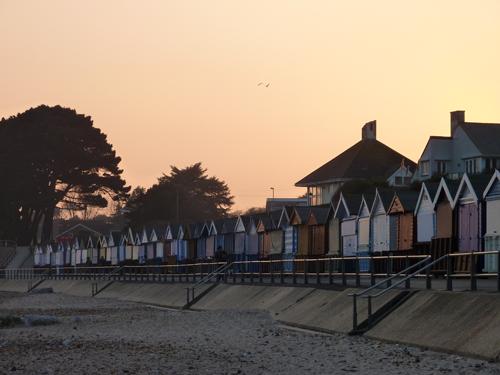 Beach huts awaiting their summer visitors