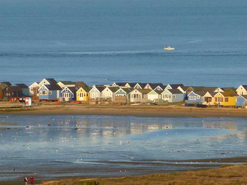 Beach huts on Mudeford Spit